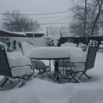 Snowy Deck Furniture